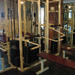 Old equipment in exercise room