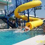 One of three swimming pools.