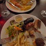 Main courses- fish and pork