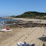 The island Herm , well worth a visit
