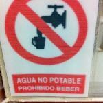 el hotel no cuenta con agua potable