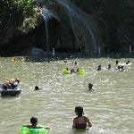 Swimming at the falls