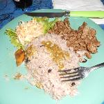 Rice, beans, & meat plate