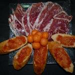Paleta iberica con perlas de melon