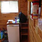 Rustic cabin inside - fridge
