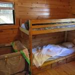 Rustic cabin inside - bunks