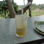 Pineapple juice.. pulpy :)