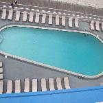 View of pool and deck from 7th floor balcony