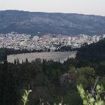 Terraza, al SE, jardines y estadio Panathenaico