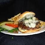 Garlic Mushroom & Swiss Burger