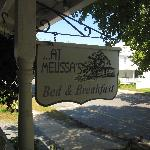 Front porch B&B sign