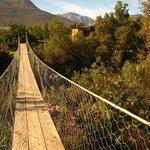 swing bridge over river