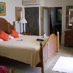The bedroom inside the honeymoon suite.