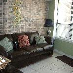 Den leather couch