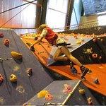 Meg on the climbing wall