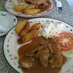 Above: Fried Chicken Chop, Below: Grilled Chicken Chop