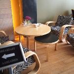 朝食を取ったレストランにもアアルト家具