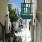 Maze of cobbled streets in Naoussa
