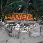 The sign at beach side