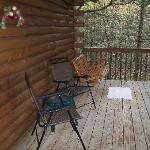 View Cabin 4 front porch toward swing