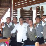 The waiters at the restaurant. Best waiters ever!!