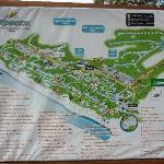 Mapa del hotel, para que no se dejen engañar con las ubicaciones