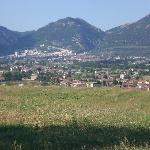 Panorama di Gubbio da Villa Fassia