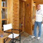 Panos at the entrance of the chalet