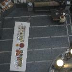 Hotel breakfast buffet in the atrium