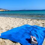 Beautiful secluded Naxos beach with crystal clear waters