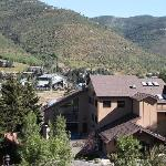 View of Vail Valley and resort activity center