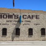Mom's cafe -- easy to drive by.  Worth stopping at