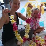 Making Leis for Kirtan