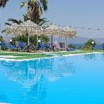 the pool - it has a lovely poolside taverna