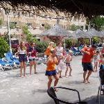 Animation daily dance by the pool bar