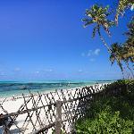 Vista dalla spiaggia privata