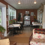 Dining room on the porch