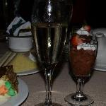Champagne and Chocolate Mouse cups