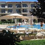 utsikt fra vårt hotelrom