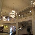 Lobby w/staircase and mezzanine