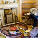 Alf Wight (as a manikin) enjoying the newspaper