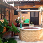 Traditional Mexican courtyard