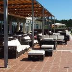 La terraza donde tomar un aperitivo antes de comer o despues de cenar