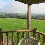 Lovely views from the decking area at rear of play barn.