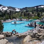 Pool at the top of the mountain
