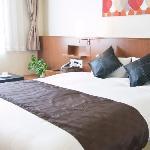 スーペリアダブルルーム 限定1ルーム!クーインベッドを配置しております。