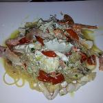 spaghetti with blue crab