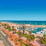 Panoramica playa desde Hotel San Luis