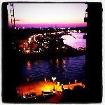 Il tramonto dal balcone