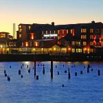 Sunset at the Cannery Pier Hotel
